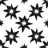 Christmas stars hand draw monochrome seamless pattern Stock Photography