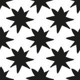 Christmas stars hand draw monochrome seamless pattern Royalty Free Stock Photos