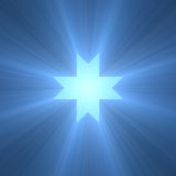 Eight pointed octagram star light flare Royalty Free Stock Images