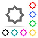 Eight-pointed star icon. Elements of religion multi colored icons. Premium quality graphic design icon. Simple icon for websites,. Web design, mobile app, info Royalty Free Stock Images