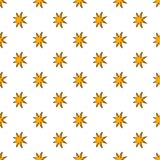 Eight pointed star pattern, cartoon style Royalty Free Stock Image