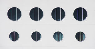 Eight Portholes Stock Photography