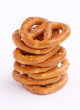 Eight Pretzels Stacked Royalty Free Stock Images