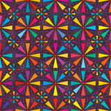 Eight ray colorful seamless pattern Stock Images