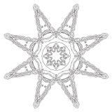 Eight rays Celtic knot ornament star mandala Royalty Free Stock Image