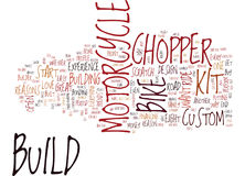 Eight Reasons To Build Your Own Chopper Or Kit Bike Word Cloud Concept Stock Image