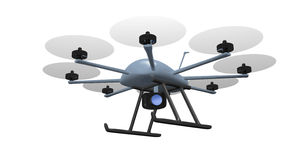 Eight rotor drone tracking Stock Images