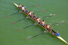 Eight rowing boat in Seville, Spain Royalty Free Stock Image