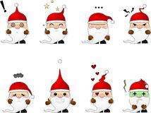 Eight Santas Stock Image