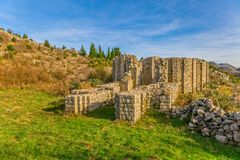 Eight sided church from the tenth century Royalty Free Stock Images