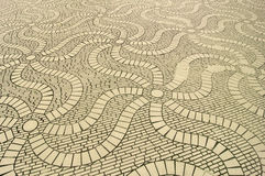 Eight Sided Waving Swirling Floor Pattern Stock Photo