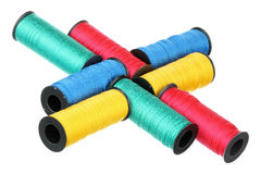 Bobbins of thread Royalty Free Stock Photos