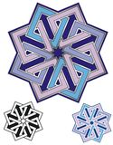 Eight squares emblem Stock Images