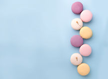 Eight sweet colorful macaroons Royalty Free Stock Image