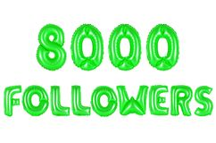 Eight thousand followers, green color Royalty Free Stock Photography