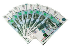 Eight thousands rubles banknotes Royalty Free Stock Image