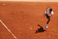 Eight times Grand Slam champion Novak Djokovic in action during his third round match at Roland Garros  Stock Images