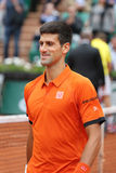 Eight times Grand Slam champion Novak Djokovic during second round match at Roland Garros 2015 Stock Images
