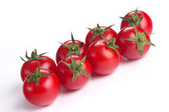 Eight tomato cherry Royalty Free Stock Image