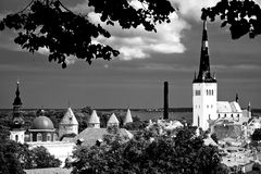Eight Towers in Tallin. Place of view of the Old Town of Tallinn Stock Photography