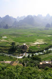Eight-trigram cropland,Xingyi,China. Eight-trigram cropland is located in Xingyi,Guizhou province,China.The cropland looks like a picture of the Eight-trigram stock photos