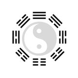The eight trigrams. The Pakua formed by the eight trigrams from the chinese i-ching Royalty Free Stock Image