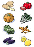 Eight vegetables - Colors Royalty Free Stock Images