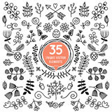 Eight Versatile wreaths. Ornament for decorating Royalty Free Stock Photos