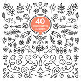 Eight Versatile wreaths. Ornament for decorating Stock Image