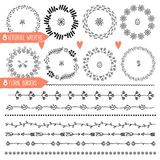 Eight Versatile wreaths. Ornament for decorating Royalty Free Stock Images