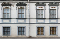 Eight vintage windows with rusty steel lattices Royalty Free Stock Image