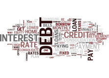 Eight Ways To Consolidate Debt Word Cloud Concept Royalty Free Stock Image