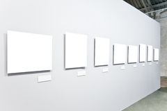 Eight white empty large banners Royalty Free Stock Photos