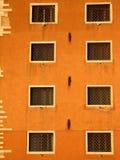 Eight windows in Venice stock image