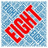 Eight Word Cloud. On a white background Royalty Free Stock Photos