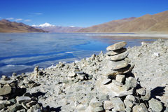 Eight,YamdrokTso,Lake, plateau lake, frozen lake, Tibet, Lhasa Royalty Free Stock Photo