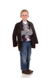 Eight year young boy Royalty Free Stock Images