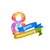 8 eight years anniversary. Royalty Free Stock Images
