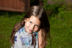 Eight yeas old girl Royalty Free Stock Image