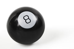 Eightball. Closeup of an eightball  on a white background Stock Photography
