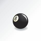 Eightball. Single eightball on white background Stock Photo