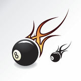 Eightball with flame. Rock & Roll Eightball with flame Stock Images