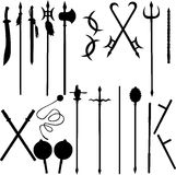 Eighteen ancient Chinese weapons royalty free illustration