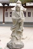 Eighteen venerable stone carving-Large statue. Eighteen Arhats means that eighteen permanent residence in the world, protect the teachings Arohan Buddhist legend Stock Images