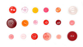 Eighteen buttons Stock Photography