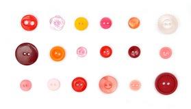 Eighteen buttons Stock Photography