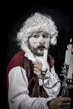 Eighteen century, gentleman rococo era wig. Gentleman rococo era wig, man dressed in vintage Stock Photos