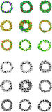 Eighteen Fruits Wreath Icons Stock Photography