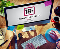 Eighteen Plus Adult Explicit Content Warning Royalty Free Stock Images