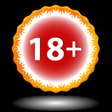 Eighteen plus icon Stock Image